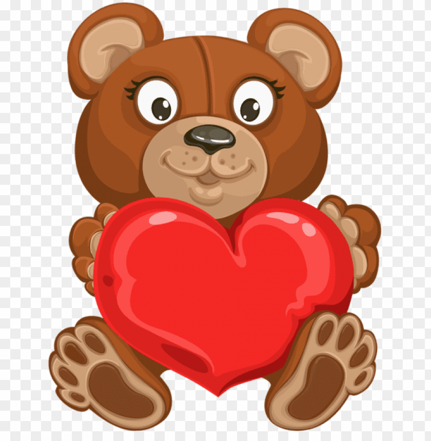 Valentine S Teddy With Heart Transparent Png Free Png Images Toppng
