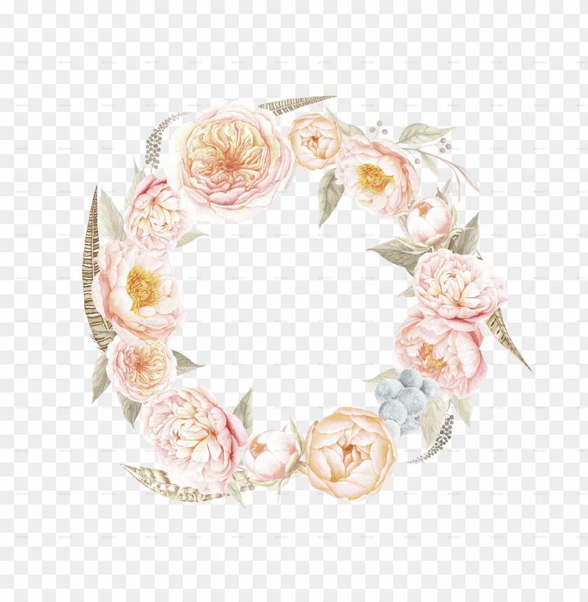 free PNG vector black and white stock bouquets by larabriffa - vintage floral wreath PNG image with transparent background PNG images transparent