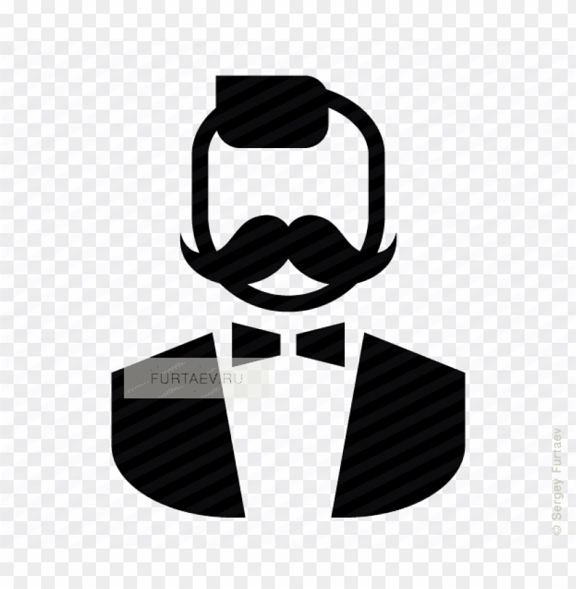 free PNG vector icon of stylish man with moustache and bow tie - icon stylish man png - Free PNG Images PNG images transparent