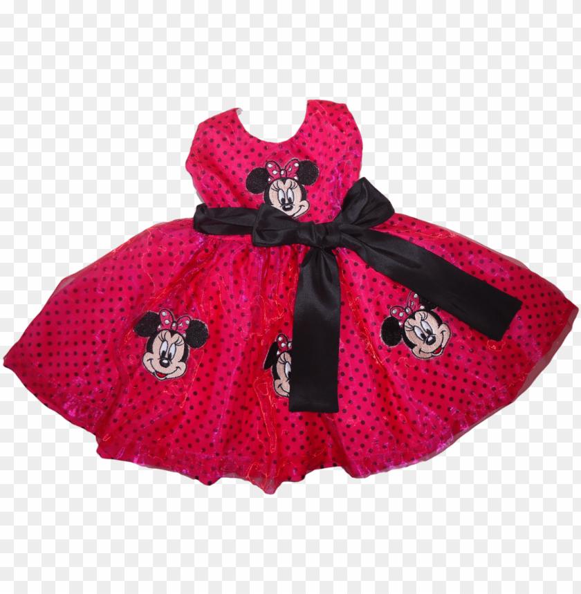 Vestido Minnie Rosa Pinkpreto Png Image With Transparent