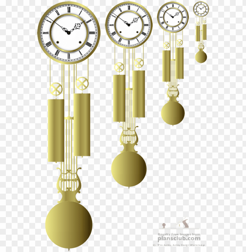 vienna regulator lyre - quartz clock PNG image with