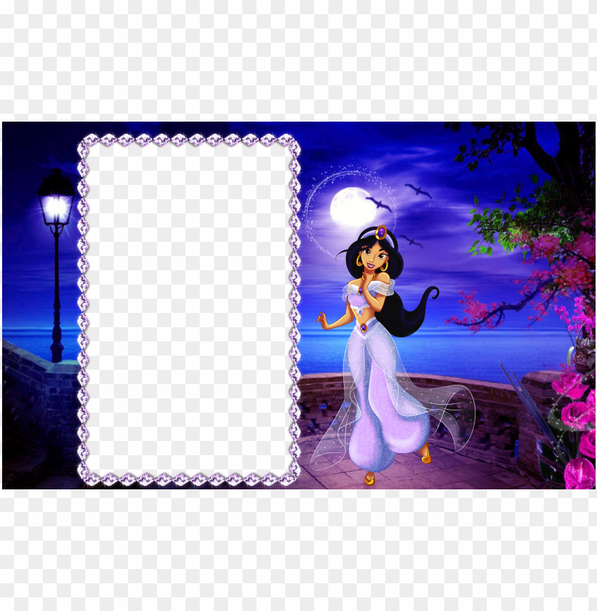 free PNG view full size - princess jasmine photo frame PNG image with transparent background PNG images transparent