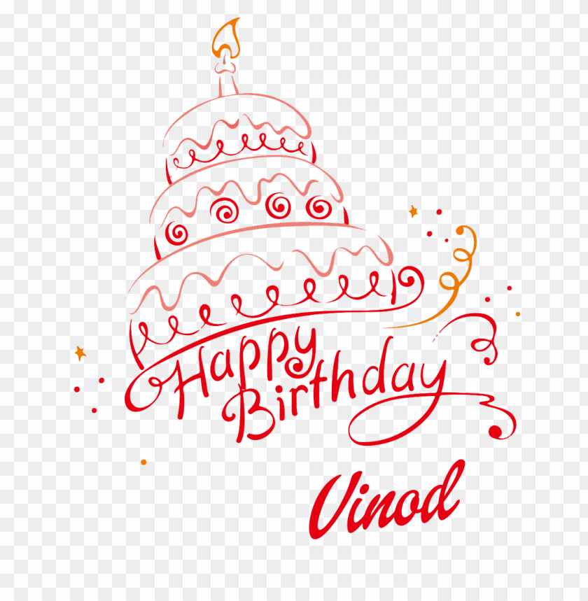 free PNG vinod happy birthday name png PNG images transparent
