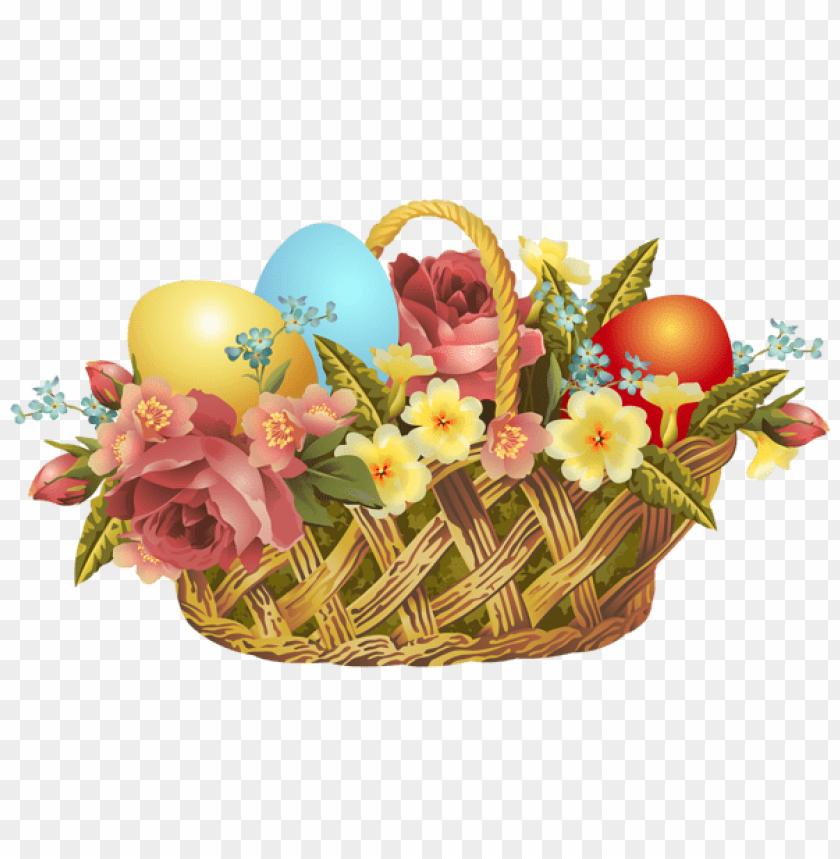 free PNG Download vintage easter basket transparent png images background PNG images transparent