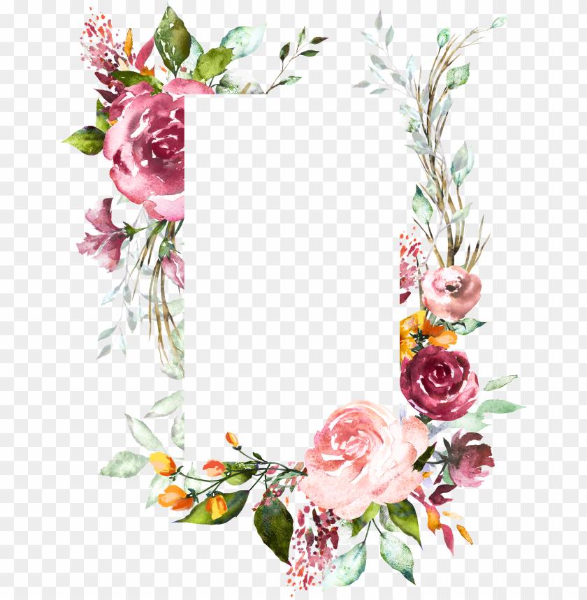Vintage Floral Wedding Invitation Background Designs Png