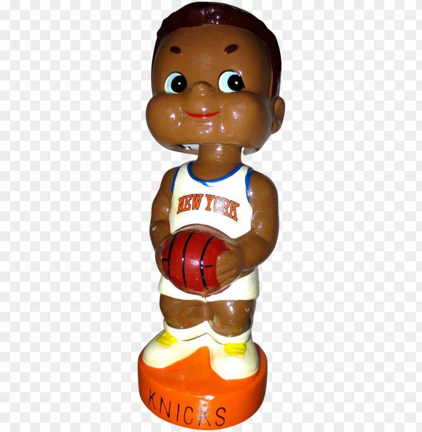 free PNG vintage new york knicks bobble head basketball bank - figurine PNG image with transparent background PNG images transparent