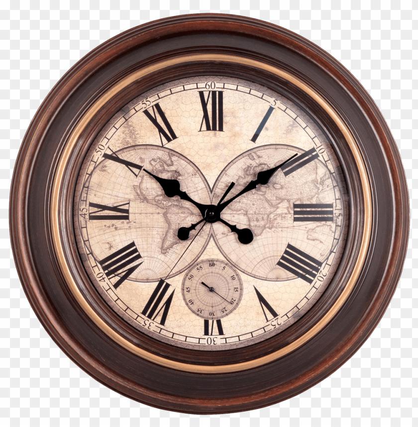Free Png Vintage Wall Clock PNG Images Transparent