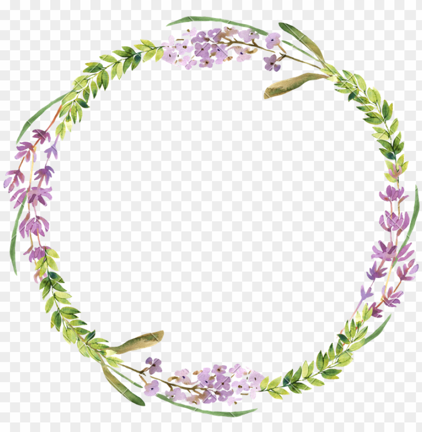 free PNG water color wreath png - watercolor lavender wreath PNG image with transparent background PNG images transparent
