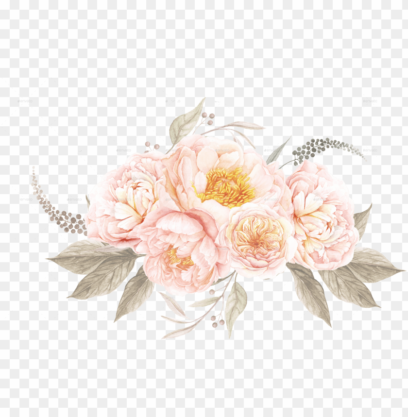 free PNG watercolor clipart transparent clipartxtras free desktop - vintage watercolor flowers PNG image with transparent background PNG images transparent