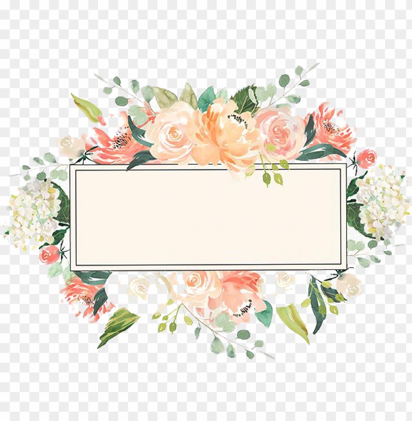 free PNG watercolor floral frame png image peoplepng - watercolor floral frame border PNG image with transparent background PNG images transparent