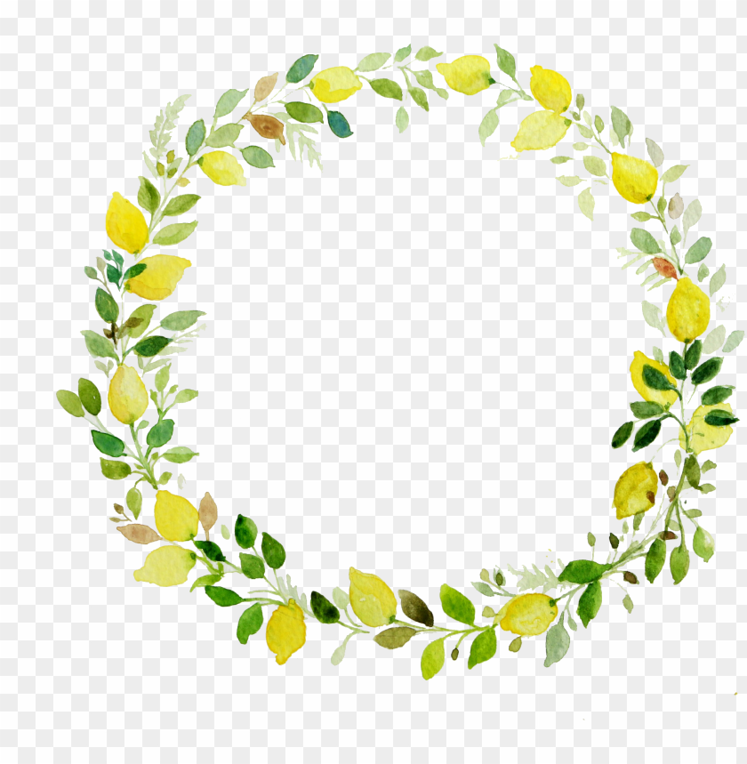 free PNG watercolor laurel png - flower wreath transparent background PNG image with transparent background PNG images transparent