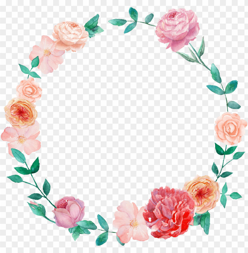 free PNG watercolor wreath flower png - Free PNG Images PNG images transparent