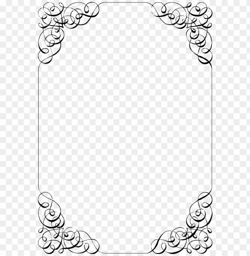 Wedding Invitation Border Image With Transparent Background