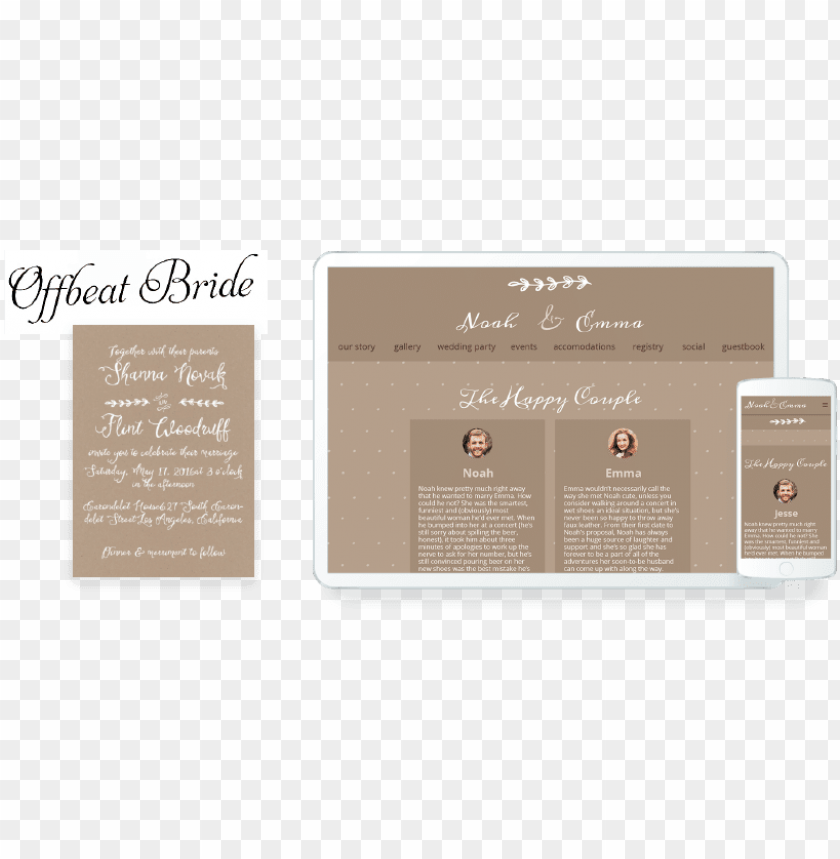 Wedding Invitations Website Png Image With Transparent Background