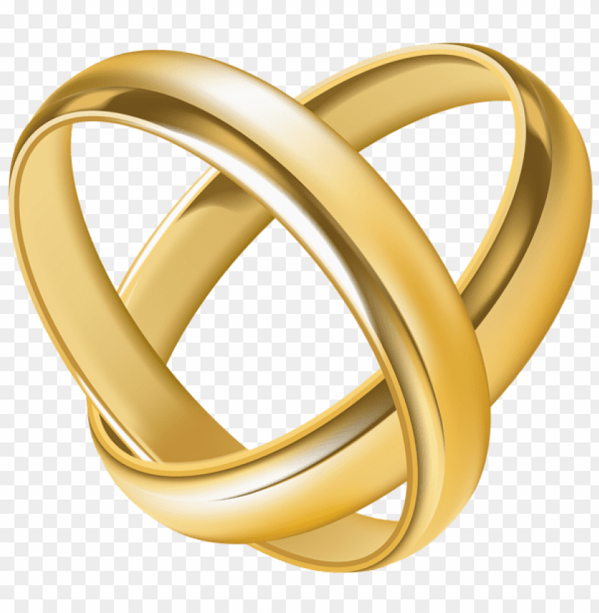 Download Wedding Rings Heart Transparent Clipart Png Photo Toppng