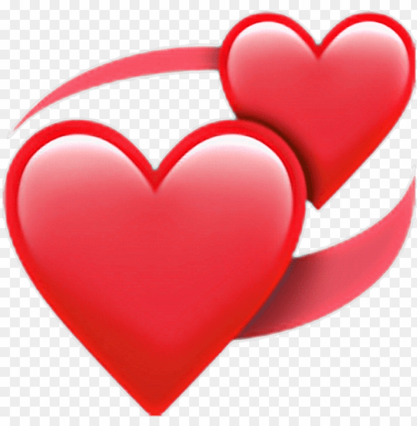 whatsapp heart emoji PNG image with transparent background