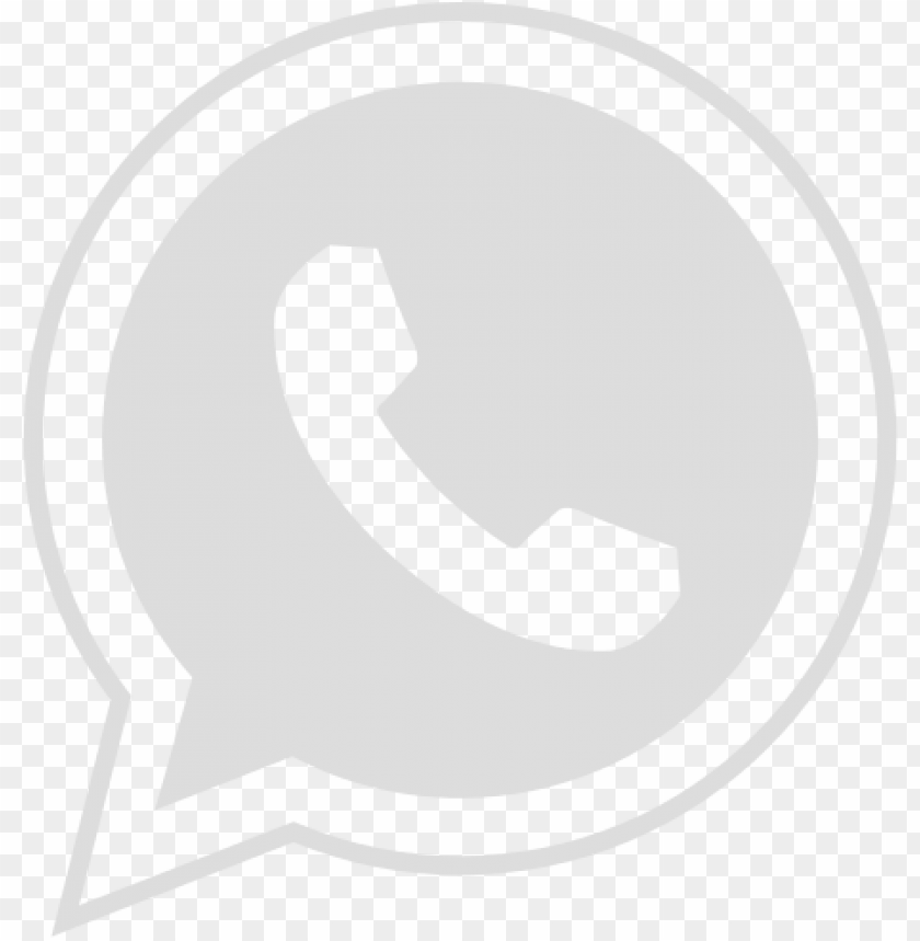 Whatsapp Png Branco Png Whatsapp Logo Circle Png Image With