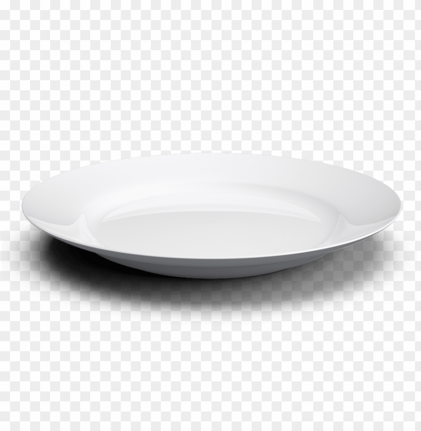 Download white basic plate with shadow png images background