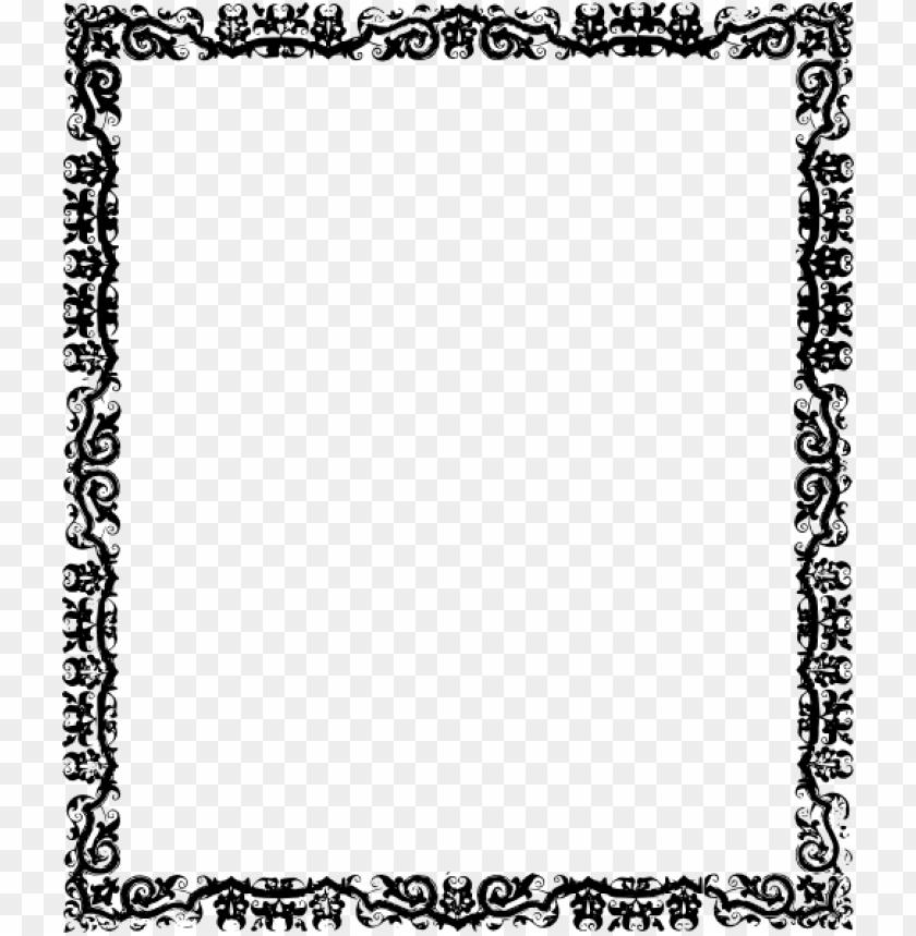 Black Frame Png Fine Png Free Png White Border Frame Pic PNG Images ...