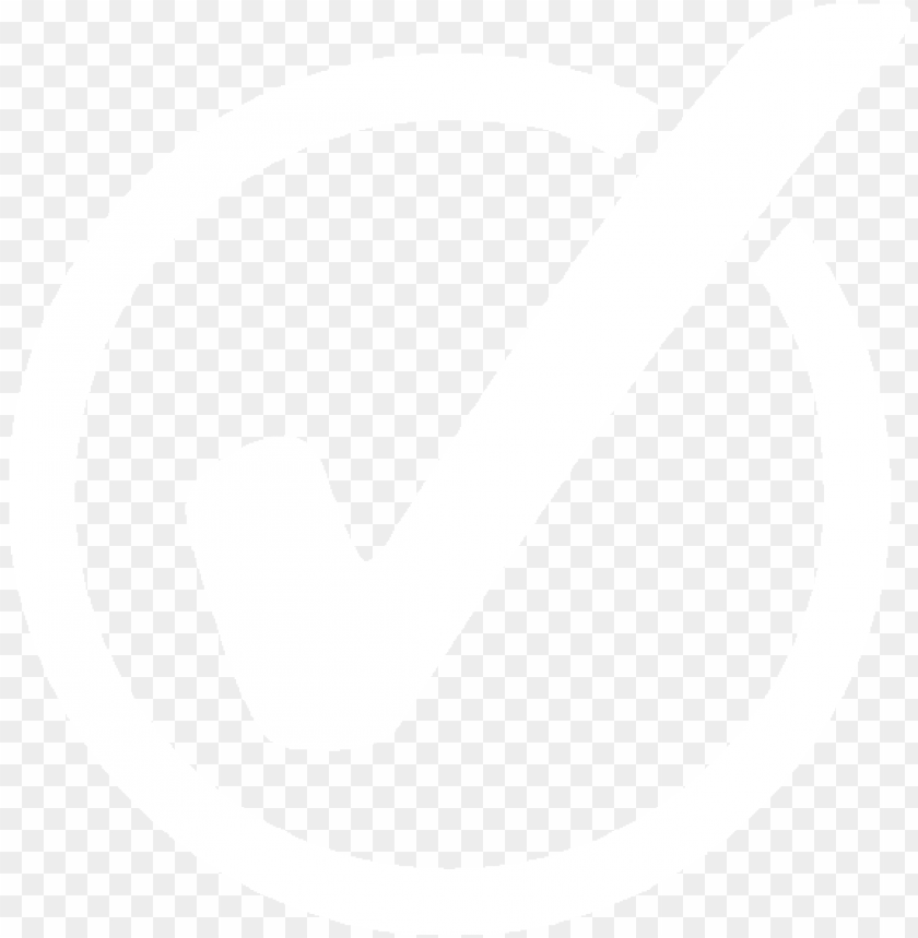white check mark symbol PNG image with transparent