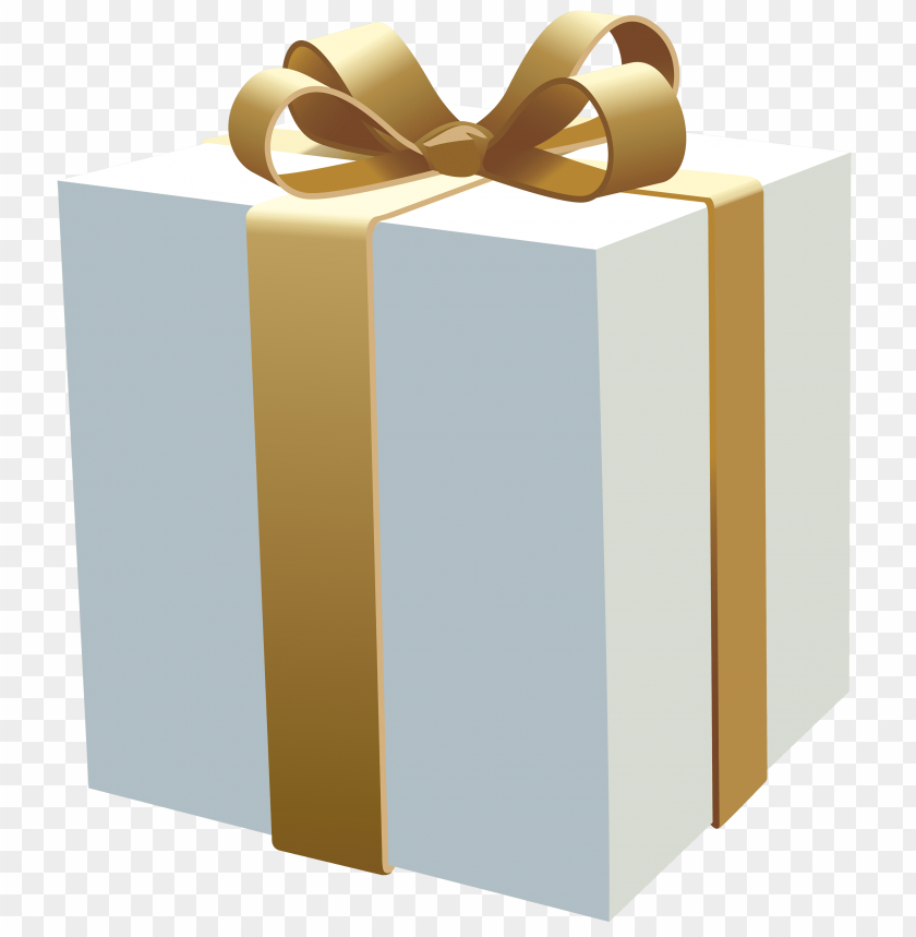 free PNG white gift box PNG images transparent