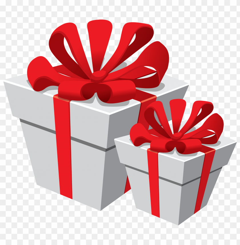 free png white gift boxes with red bow PNG images transparent