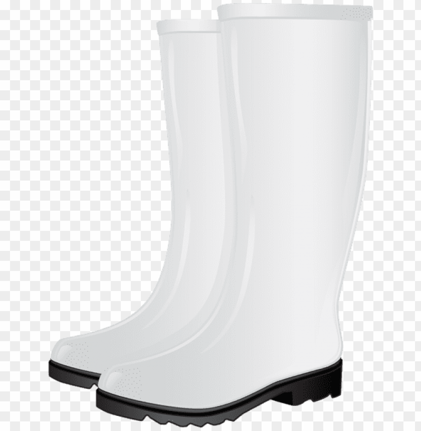 free PNG white rubber boots PNG images transparent