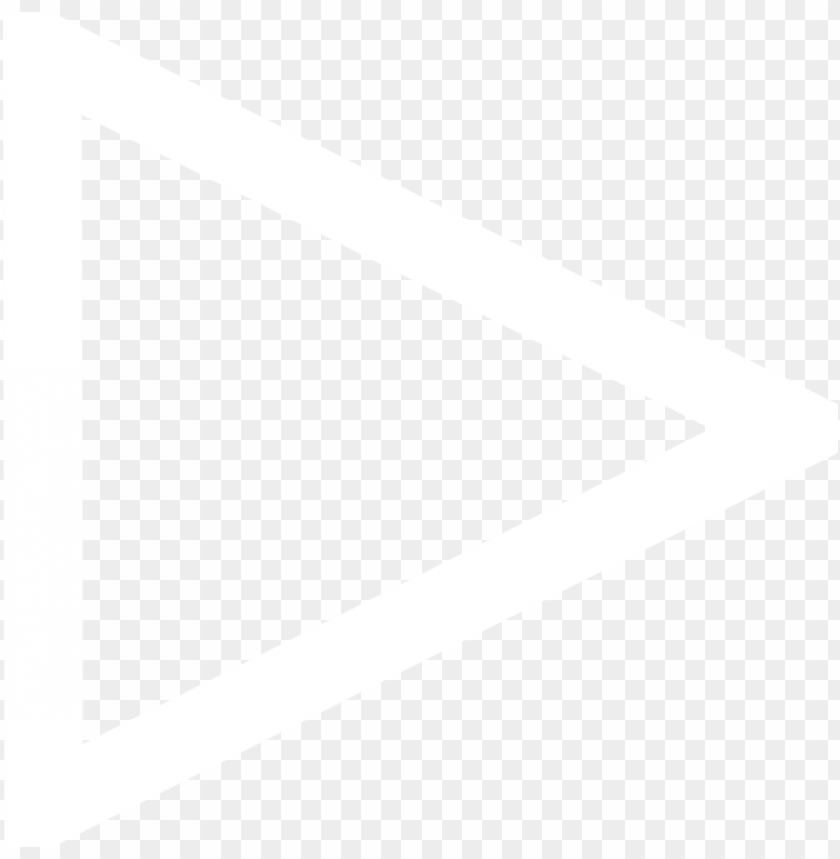 white triangle png - white triangle outline transparent