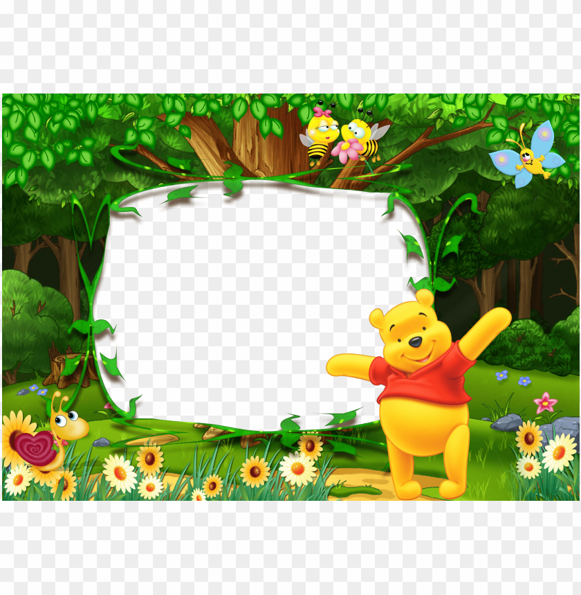 4bddb8b0456 free PNG winnie the pooh kids transparent photo frame background best stock  photos PNG images transparent