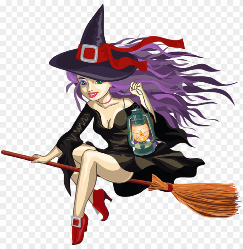 free PNG witch with lantern PNG images transparent