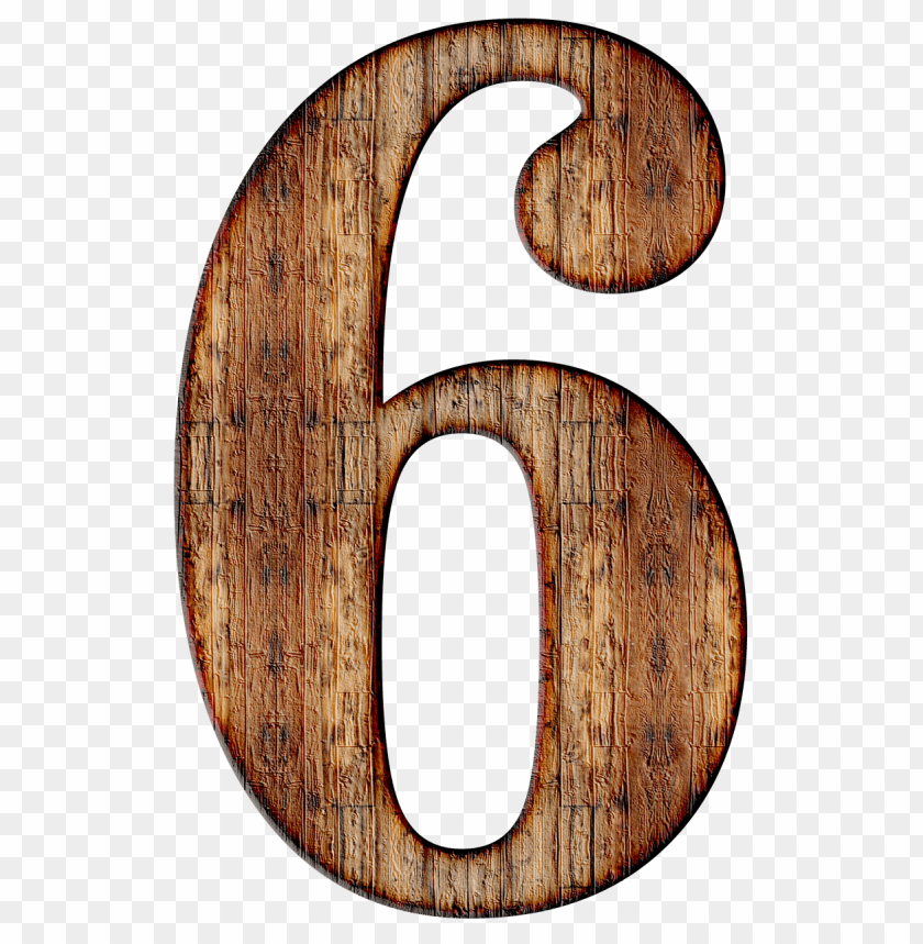 free PNG wooden number 6 PNG image with transparent background PNG images transparent