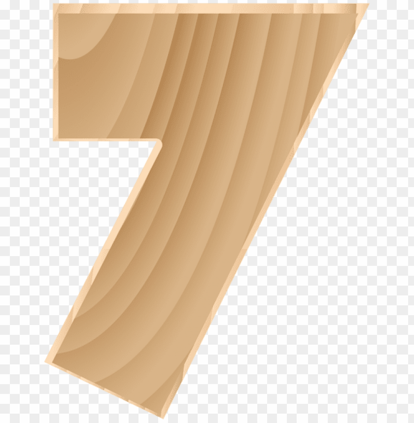 free PNG Download wooden number seven transparent clipart png photo   PNG images transparent