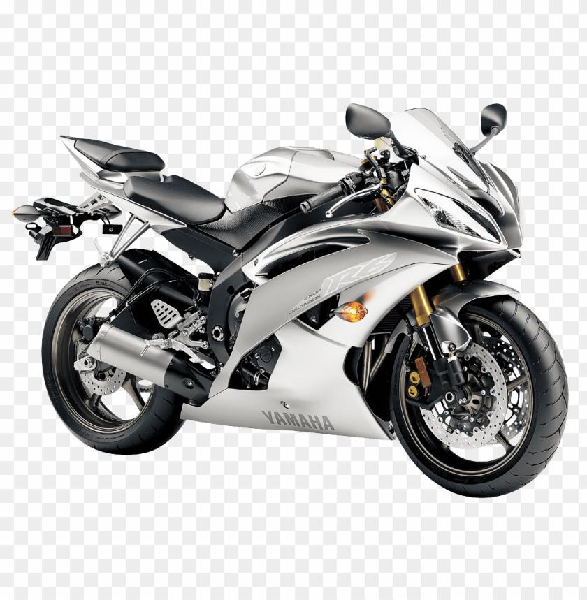 Download Yamaha R6 Liquid Silver Motorcycle Bike Png