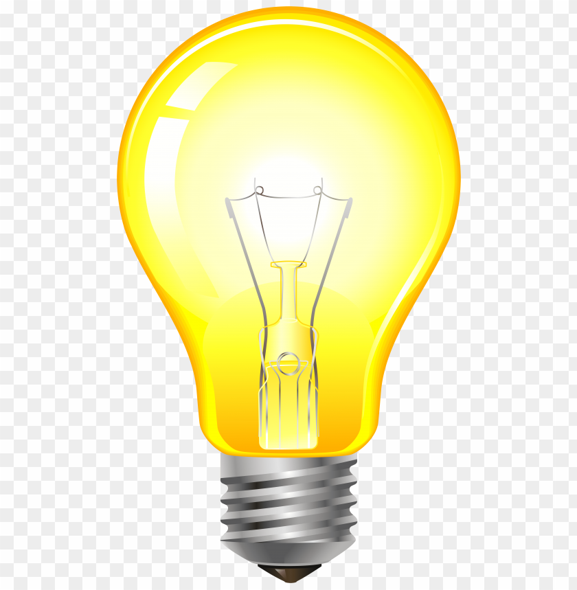 download yellow light bulb clipart png photo toppng toppng