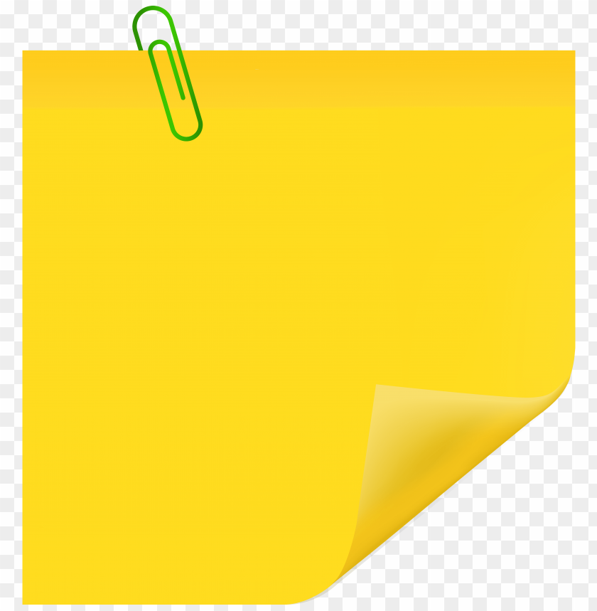 free png yellow sticky note with paperclip PNG images transparent
