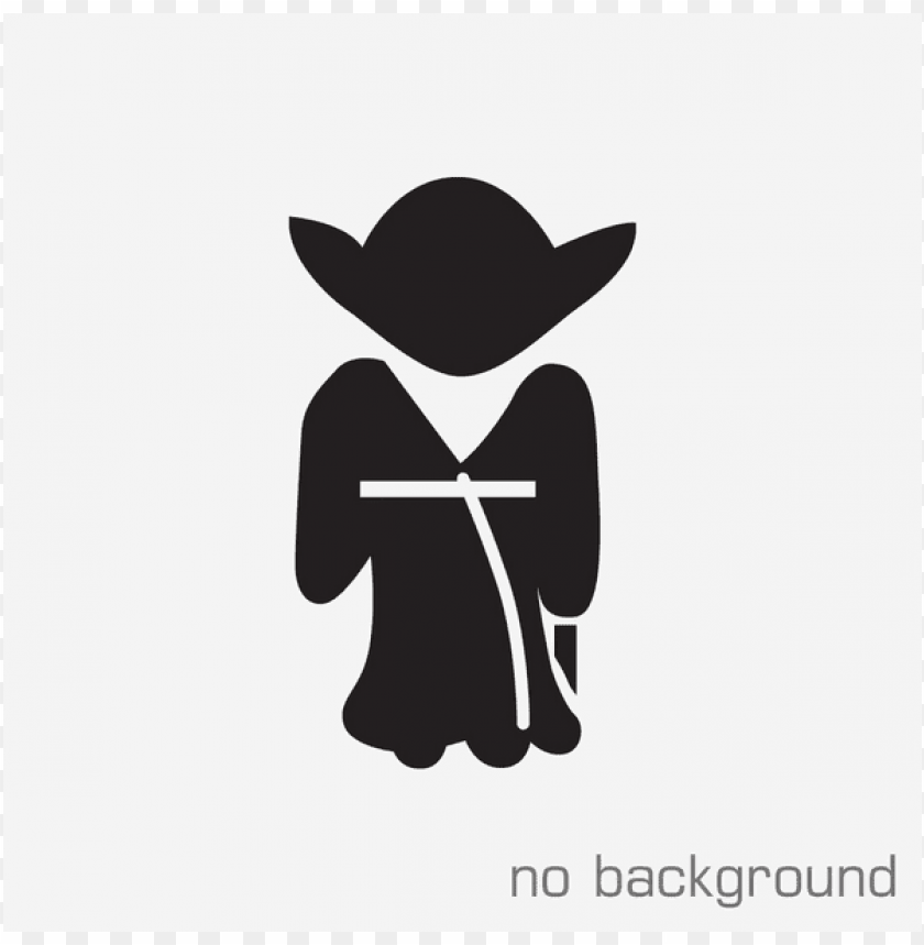 Download Yoda Png Black And White S Clipart Png Photo Toppng