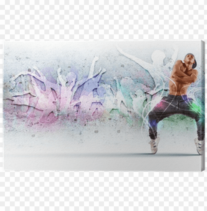 free PNG young man dancing hip hop with color lines canvas print - hip hop dance cover photos for facebook PNG image with transparent background PNG images transparent