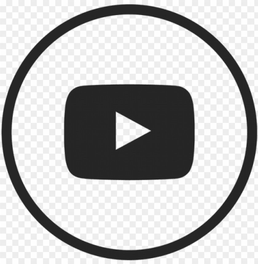 Youtube Icon Youtube Black White And Vector Youtube