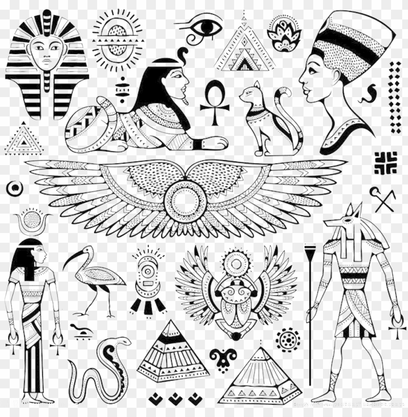 free PNG yramids ancient egypt hieroglyphs - egypt symbols PNG image with transparent background PNG images transparent