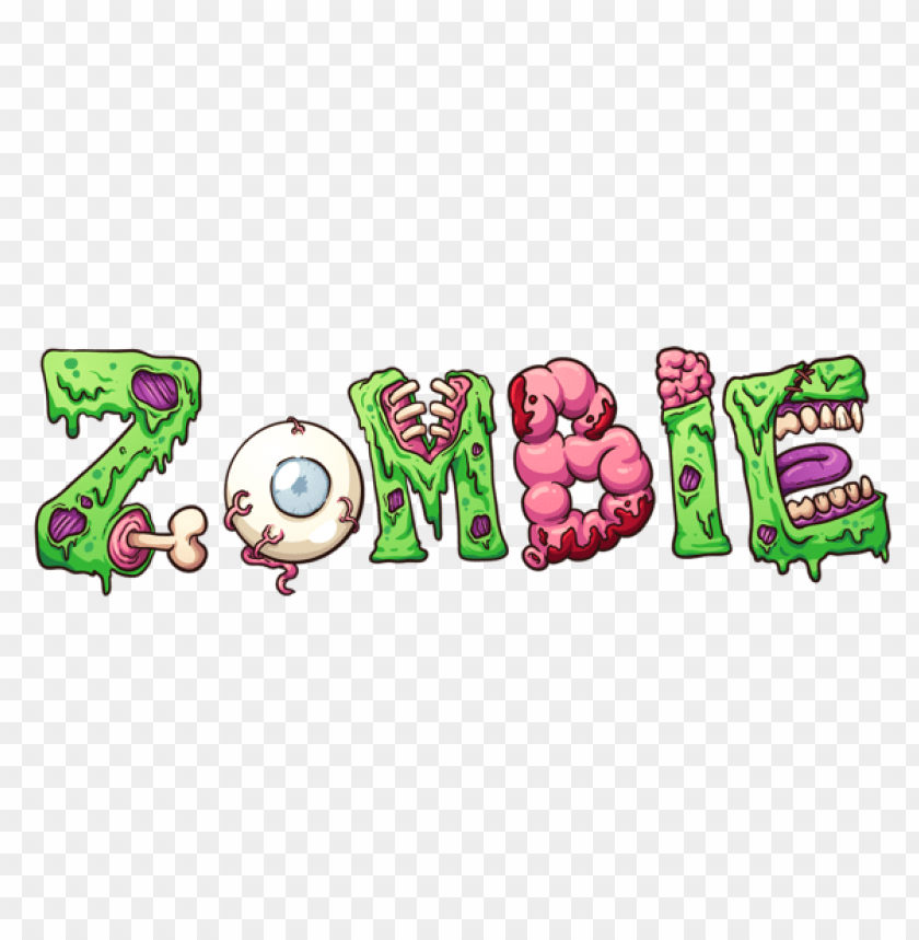 free PNG zombie halloween text PNG images transparent