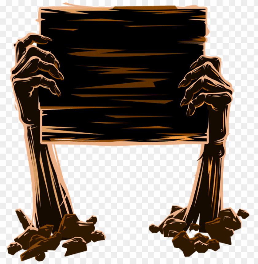 free PNG zombie hands holding board PNG images transparent