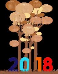 2018 png calendar template