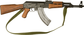 ak 47 with wooden grip