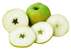 Apple with Slices