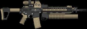 assault rifle clipart
