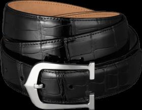 black belt with stylish buckles