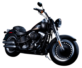 Black Color Harley Davidson Motorcycle Bike