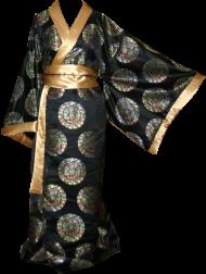 black medallion kimono