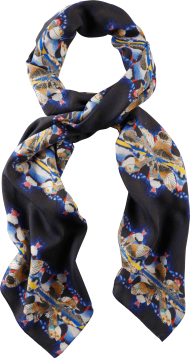black printer scarf