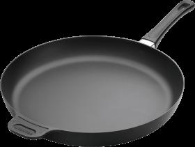 black steel frying pan